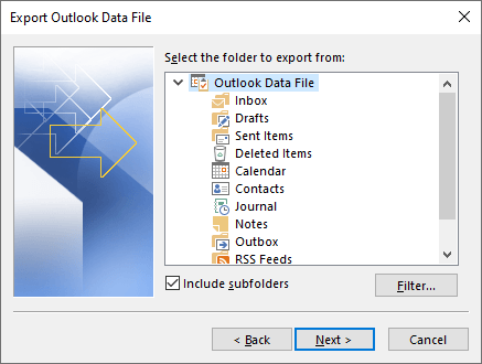 Outlook データ ファイル 移動