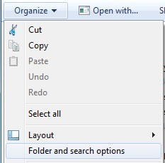 folder search options